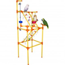 Zoo-Max - Super Play Gym en PVC - Parc de Jeu pour Perroquet