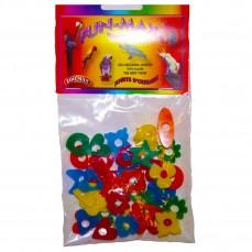 Zoo-Max - Perles en Acrylique - Petites Formes Assorties - 40 Pièces