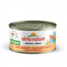 Almo Nature - Pâtée HFC Natural au Thon et Crevettes pour Chat - 70 gr