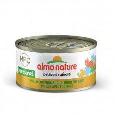 Almo Nature - Pâtée HFC Natural au Poulet et Fromage pour Chat - 70 gr