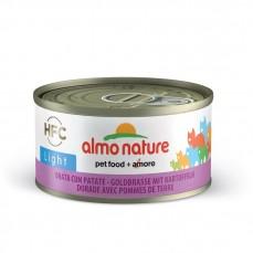 Almo Nature - Pâtée HFC Light à la Dorade et Pomme de Terre pour Chat - 70 gr