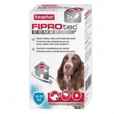 Fiprotec Combo - Pipettes Anti Puces et Anti Tiques pour Chien Moyen - 3 pipettes