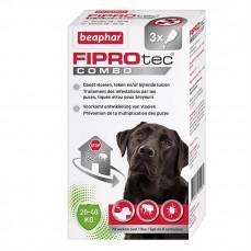 Traitement Antipuces Fiprotec Combo pour Grands Chiens - 20 à 40 kg