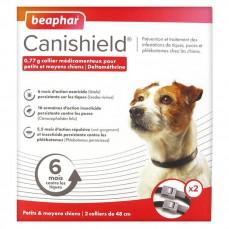 Canishield L 48 cm - Pack de 2 Colliers Anti Puces, Tiques et Moustiques pour Petit et Moyen Chien (1 An de Protection)