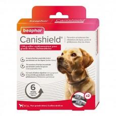Canishield L 65 cm - Pack de 2 Colliers Anti Puces, Tiques et Moustiques pour Grand Chien  (1 An de Protection)