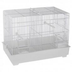 Cage Cova 1 (44 cm) à Double Compartiment Blanche - Bac Plastique