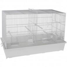 Cage Cova 3 (67 cm) à Double Compartiment Blanche - Bac Plastique
