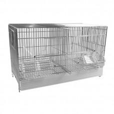 Cage Cova 55 à Double Compartiment - Bac Plastique