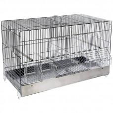 Cage Cova 55 à Double Compartiment - Bac Métal