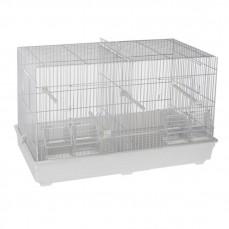 Cage Cova 2 (58 cm) à Double Compartiment Blanche - Bac Plastique