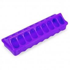 Mangeoire Râtelier en Plastique Violet - 30 cm