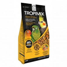 Tropimix - Mélange de Graines, Granulés et Fruits sans Déchets pour Inséparables et Calopsittes - 908 gr
