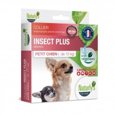 Naturlys - Collier Anti-Parasitaire Insect + pour Petits Chiens - 38 cm