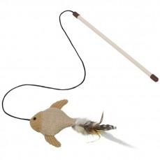 Jouet pour Chat - Canne à Pêche avec Poisson Sisal - 25 cm