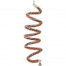 Spirale en Corde de Coton Bouncing Large - Jouet Perroquet