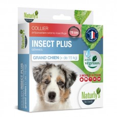 Naturlys - Collier Anti-Parasitaire Insect + pour Grand Chien - 75 cm