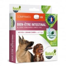 Naturlys - Comprimés pour l'Hygiène Intestinale des Moyens et Grands Chiens - 9 pièces