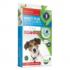 Naturlys - Pipettes Insecticides pour Petits Chiens (1 à 10 kg) - 4 x 1,5  ml