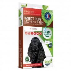 Naturlys - Pipettes insecticides pour Chiens de Races Moyennes (10 à 25 kg) - 4 x 3 ml