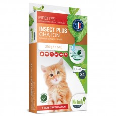 Naturlys - Pipettes Antiparasitaires Insect Plus pour Chatons - 0,5ml / 4 pipettes