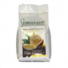 Ornitalia - Perle Morbide Blanche - Complément pour Oiseaux - 800 gr
