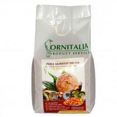 Ornitalia - Perle Morbide Rouge aux Fruits - Complément pour Oiseaux - 800 gr