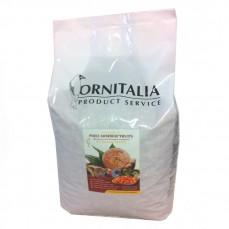Ornitalia - Perle Morbide Rouge aux Fruits - Complément pour Oiseaux - 4 kg