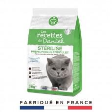 Recettes De Daniel - Croquettes Chat Stérilisé au Poulet -  3 Kg
