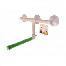 Perchoir Shower Fun Small - Perchoir de Douche ou Fenêtre pour Petites et Grandes Perruches