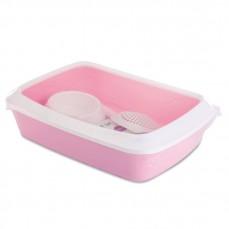 Savic - Kit Bac à Litière de Démarrage pour Chaton - Rose Pink Lady