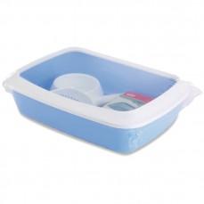 Savic - Kit Bac à Litière de Démarrage pour Chaton - Bleu Baby Blue