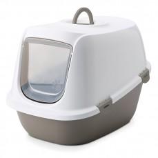 Savic - Maison de Toilette pour Chat Léo - Taupe/Blanc