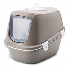 Savic - Maison de Toilette avec Tamis - Reina Sift - Litière XL à Nettoyage Facile - Taupe