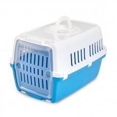 Savic - Cage de Transport pour Chat et Animaux Zephos 1 - Blanc et Bleu Pacific