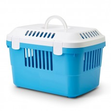 Savic - Panier de Transport pour Chat et Animaux Discovery 1 - Blanc et Bleu Pacific