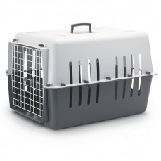 Savic Pet Carrier 4 -  Caisse de Transport pour Petit Chien ou Grand Chat - Anthracite et Gris Clair