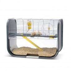 Savic - Cage Anti Projection pour Hamster Geneva - Gris Anthracite