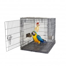 Cage de Transport Carry Me Large pour Perroquet - Couleur Anthracite