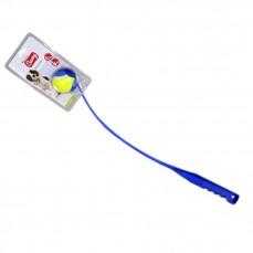 Jouet pour Chien - Lanceur de Balle Bleu - 65 cm