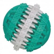 Jouet Dentaire pour Chien - Balle Dental fun Goût Menthe - 15 cm