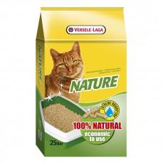 Versele-Laga Nature 25 L - 15 kg - Litière pour Chats en Granulés de Copeaux de Bois