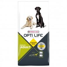 Opti Life - Adult Maxi - 12,5 kg - Croquettes pour Grandes Races de Chiens Adultes - Goût Poulet