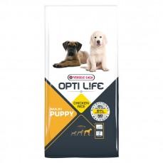 Opti Life - Puppy Maxi - 12,5 kg - Croquettes pour Chiots de Grandes Races - Goût Poulet