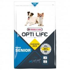 Opti Life - Senior Mini - 2,5 kg - Croquettes pour Petits Chiens Agés (+7 ans) - Au Poulet