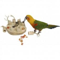Bird Pad - Jouet de Foraging en Bois de Java pour Perroquet