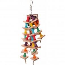 Wooden Pillar - Jouet perroquet