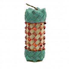 Cylindre de Foraging en Feuille de Palmier - Jouet perroquet