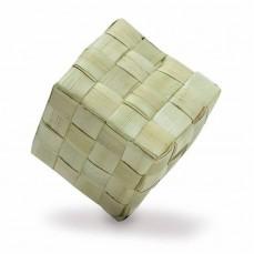 Cube en Feuille de Palmier Large - Pièce de Jouet pour Oiseaux