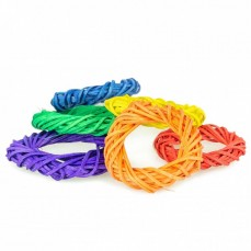 Coloured Woven Rings - Lot de 6