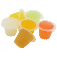 Fruit Cups - Gelée au Fruit - 6 Parfums Assortis (Banane, Fraise, Orange, Melon, Yaourt, Miel)